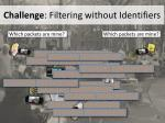 challenge filtering without identifiers