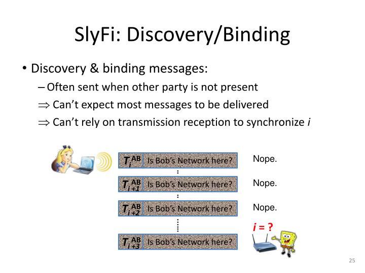 SlyFi: Discovery/Binding