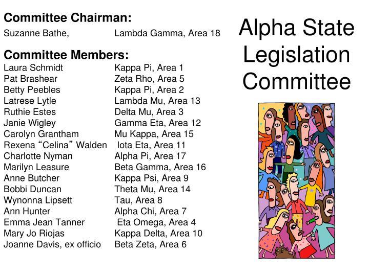Alpha State Legislation Committee