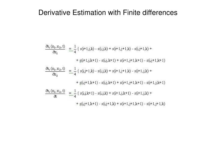 Derivative Estimation with Finite differences
