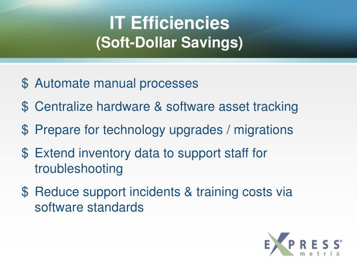 IT Efficiencies