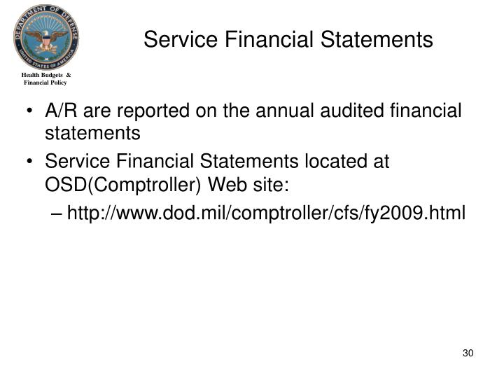 Service Financial Statements