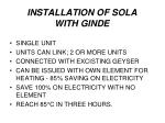 installation of sola with ginde1