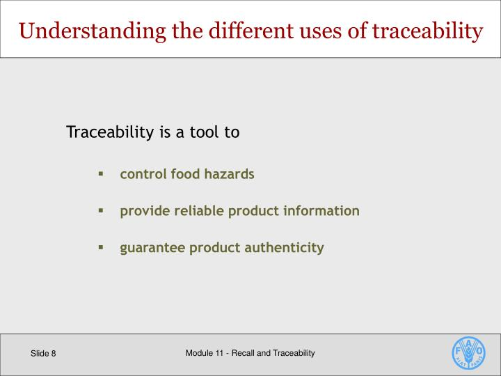 Understanding the different uses of traceability