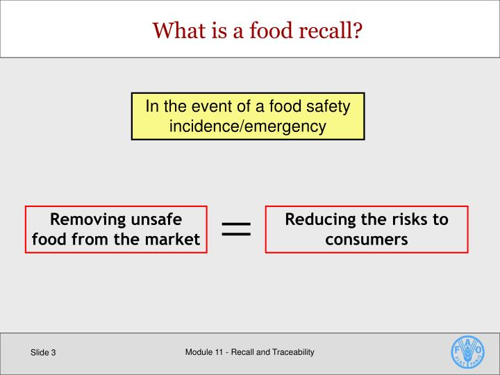 What is a food recall?