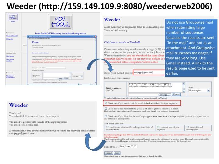 Weeder (http://159.149.109.9:8080/weederweb2006)