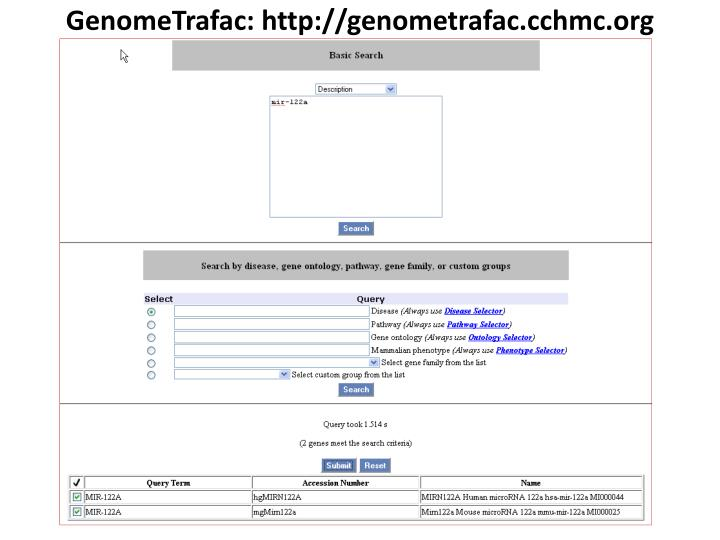 GenomeTrafac: http://genometrafac.cchmc.org