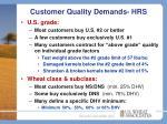 customer quality demands hrs