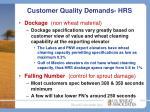 customer quality demands hrs2