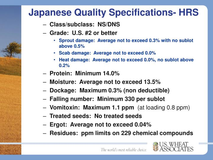 Japanese Quality Specifications- HRS