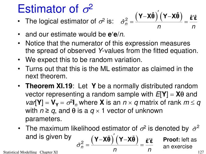 The maximum likelihood estimator of