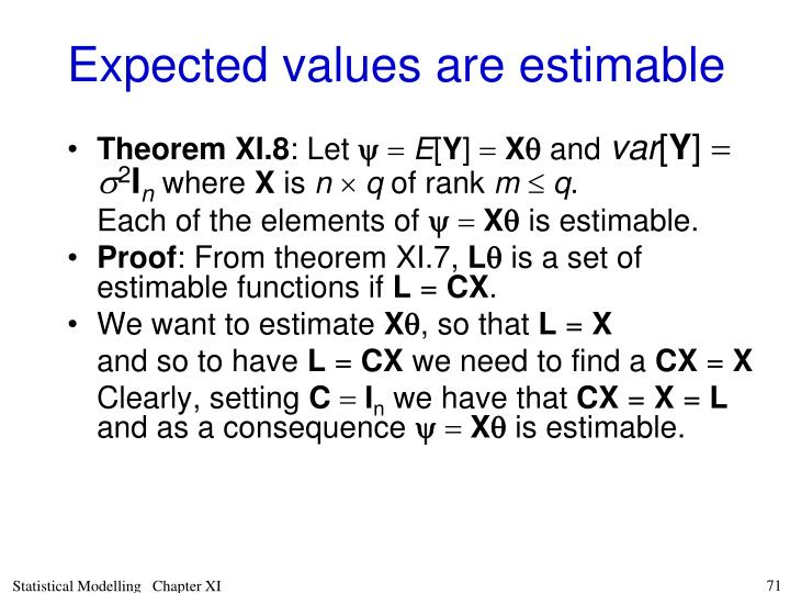 Expected values are estimable