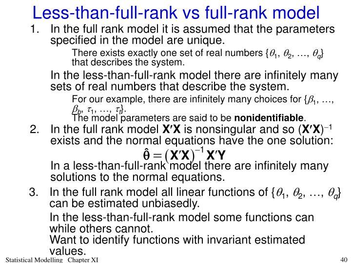 In the full rank model