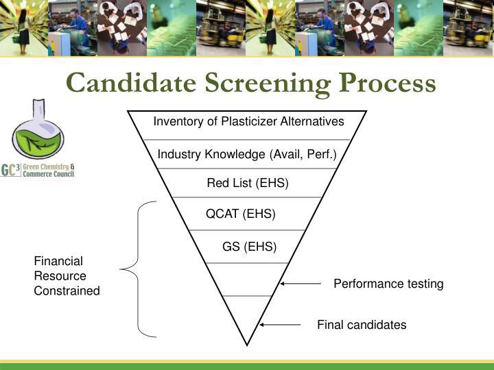 Candidate Screening Process