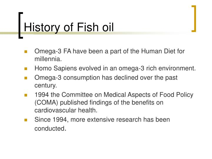 History of Fish oil