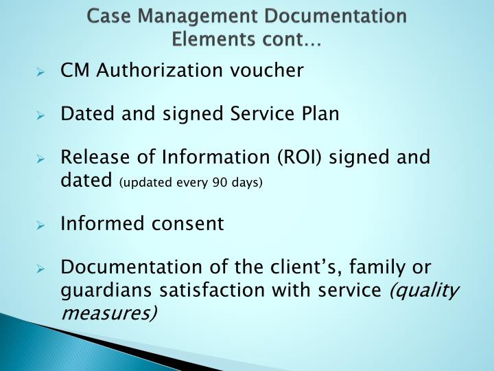 Case Management Documentation