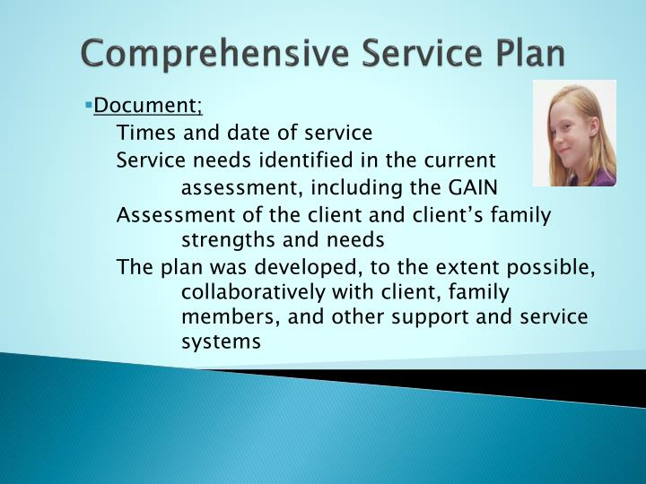 Comprehensive Service Plan