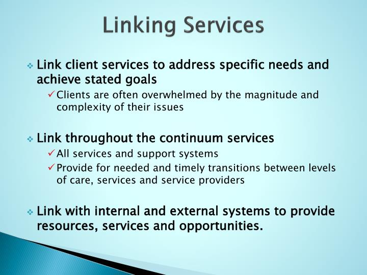 Linking Services