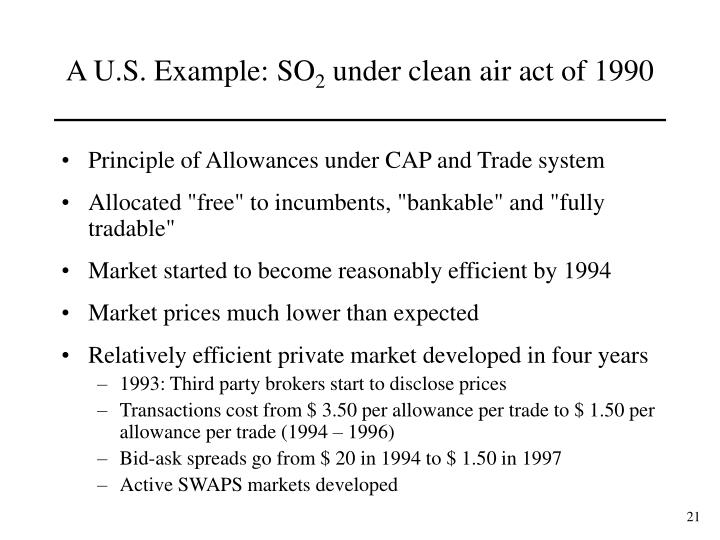 Principle of Allowances under CAP and Trade system