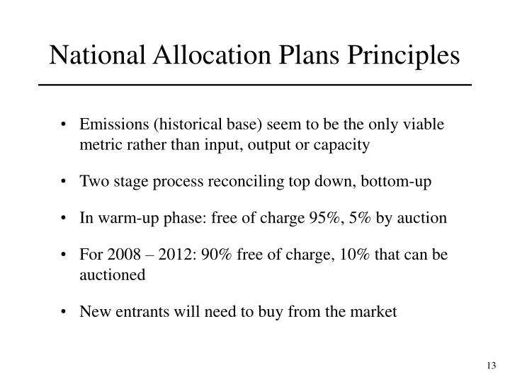Emissions (historical base) seem to be the only viable metric rather than input, output or capacity