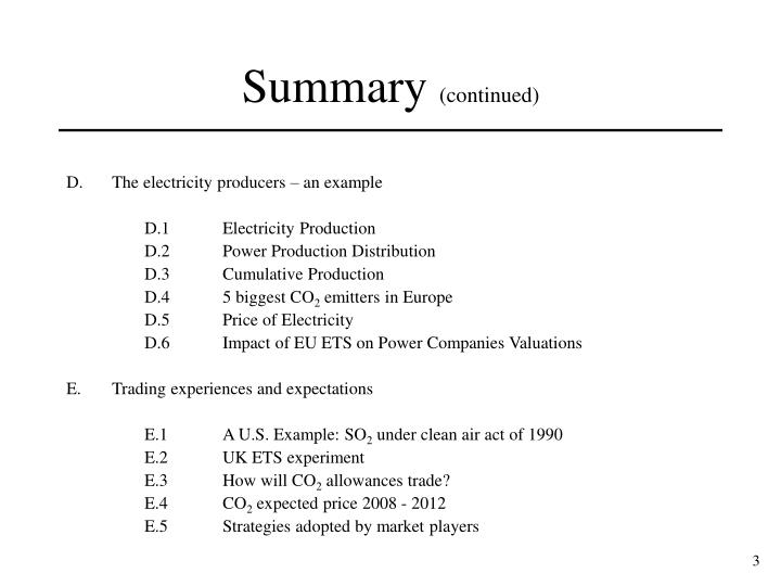 D.The electricity producers – an example