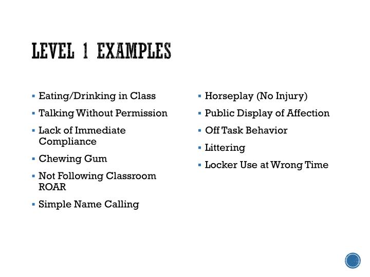 Level 1 Examples