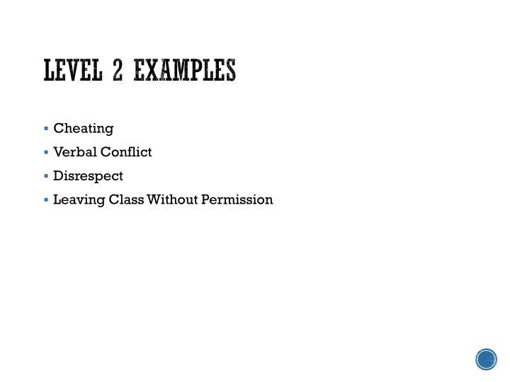Level 2 Examples