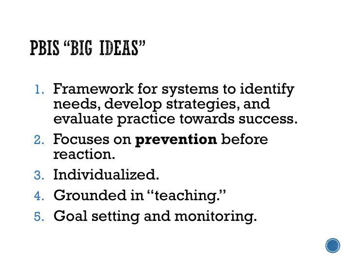 """PBIS """"Big Ideas"""""""