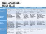 roar expectations public areas