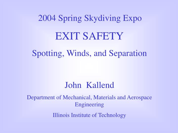 2004 Spring Skydiving Expo