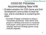 ossd se processes accommodating new h w1