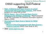ossd supporting dod federal agencies