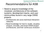 recommendations for asb1