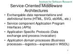 service oriented middleware architectures