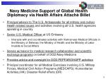 navy medicine support of global health diplomacy via health affairs attach billet