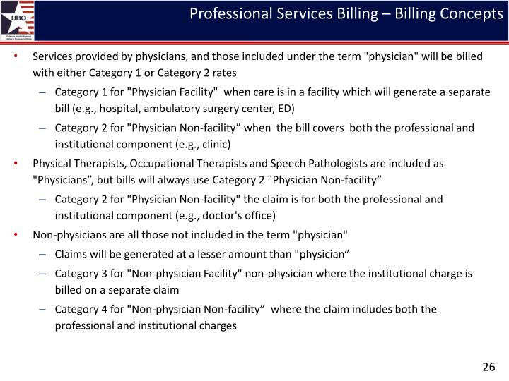 Professional Services Billing – Billing Concepts
