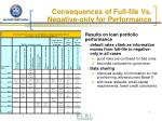 consequences of full file vs negative only for performance