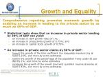 growth and equality