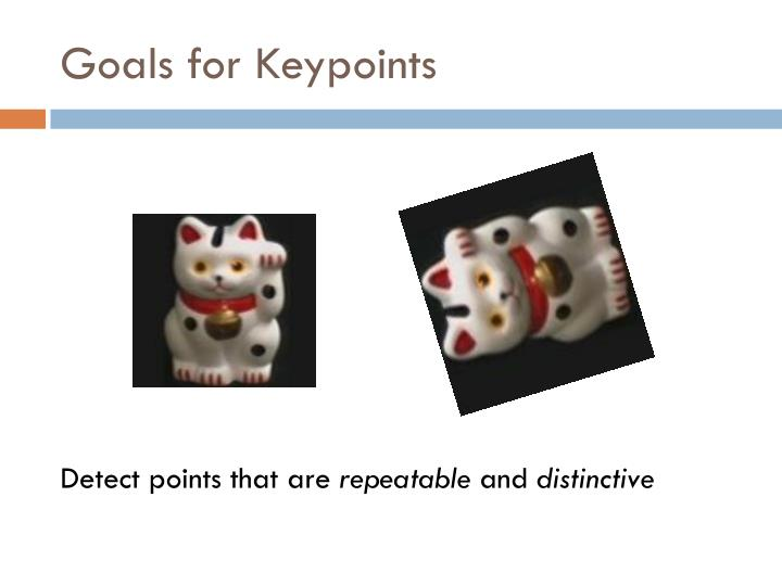 Goals for Keypoints