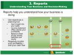 3 reports understanding your business and decision making