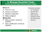 4 manage essential tasks practice session mark s atomic graphic designs
