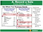 a record a sale practice session money in2