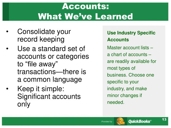 Accounts: