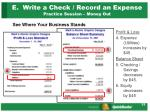 e write a check record an expense practice session money out2