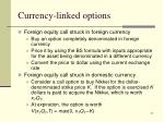 currency linked options