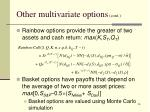 other multivariate options cont