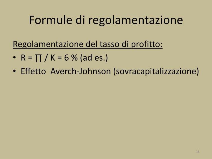 Formule di regolamentazione