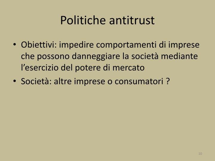Politiche antitrust