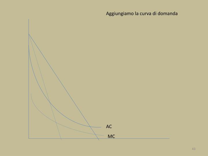 Aggiungiamo la curva di domanda