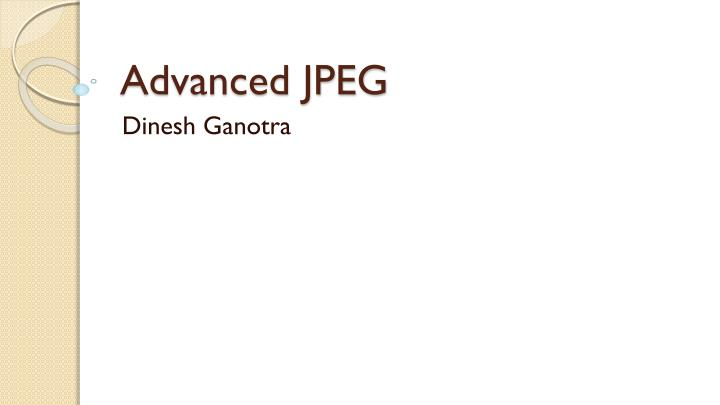 advanced jpeg